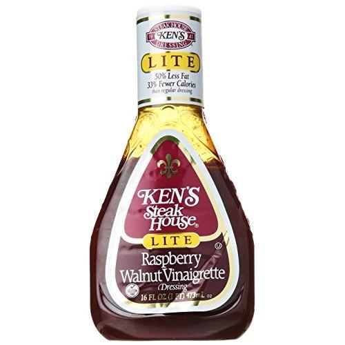 Kens Steak House Raspberry Walnut Vinaigrette Dressing Lite, 16 oz