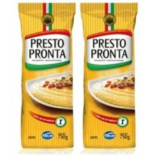 PRESTO PRONTA Polenta Instantanea 750 gr. - 2 PACK/Instant Cornm...