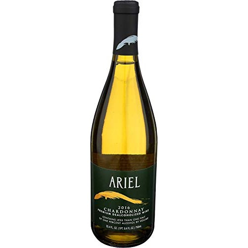 Ariel Chardonnay Non-alcoholic White Wine 750ml 12 Pack (Pack of...