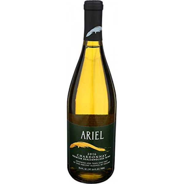 Ariel Chardonnay Non-alcoholic White Wine 750ml 12 Pack Pack of...