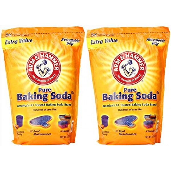 2 x 13.5 Pounds Arm & Hammer Pure Baking Soda 27 Pounds Total