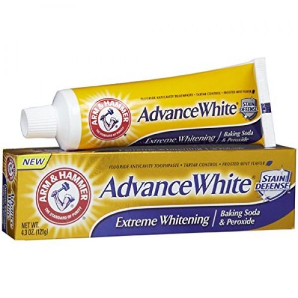ARM & HAMMER Advance White Baking Soda & Peroxide Toothpaste, Ex...