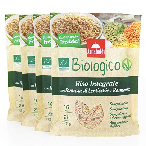 Organic Gluten Free Brown Rice with Lentils and Rosemary, Organi...