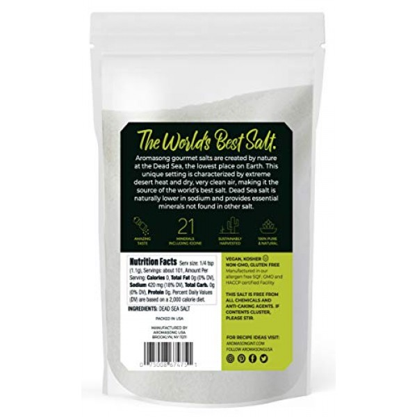 Aromasong Organic Sea Salt, - Fine Grain Table Salt , Large B...