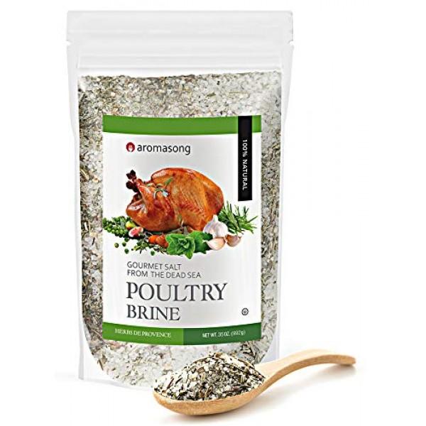 HERBS DE PROVENCE Dry Turkey Brine Bulk Bag of 2 .43 LBS. 100% N...