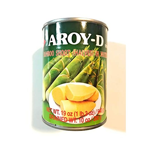 Aroy-D Bamboo Shoot Halves In Water 19 Oz4 Pack