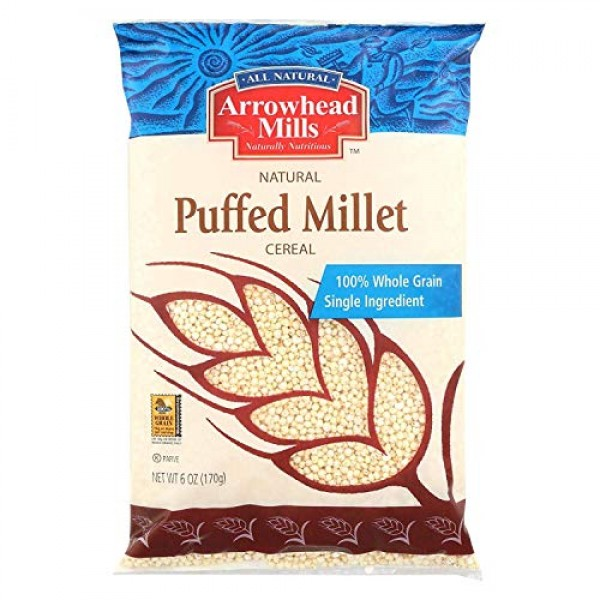 Arrowhead Mills Puffed Millet Cold Cereal, 6 Ounce - 12 per case.