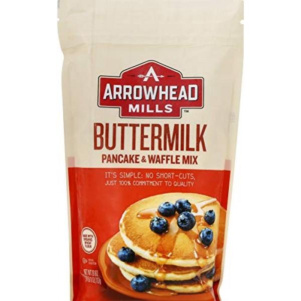 Arrowhead Mills Buttermilk Pancake & Waffle Mix, 26 Ounce Pack ...