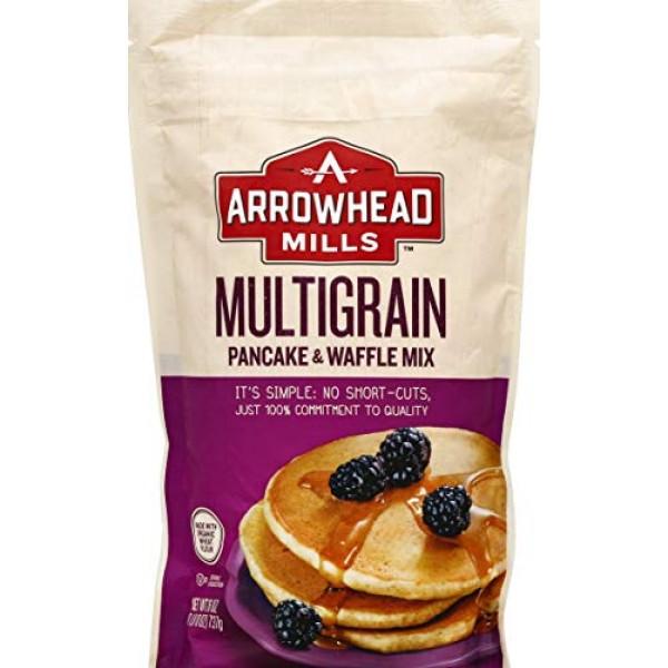 Arrowhead Mills Multigrain Pancake & Waffle Mix, Organic, 26 Oun...