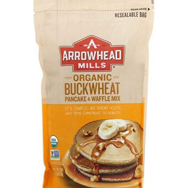 Arrowhead Mills Organic Buckwheat Pancake & Waffle Mix, 26 Ounce...