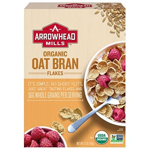 Arrowhead Mills Organic Cereal, Oat Bran Flakes, 12 oz. Box Pac...