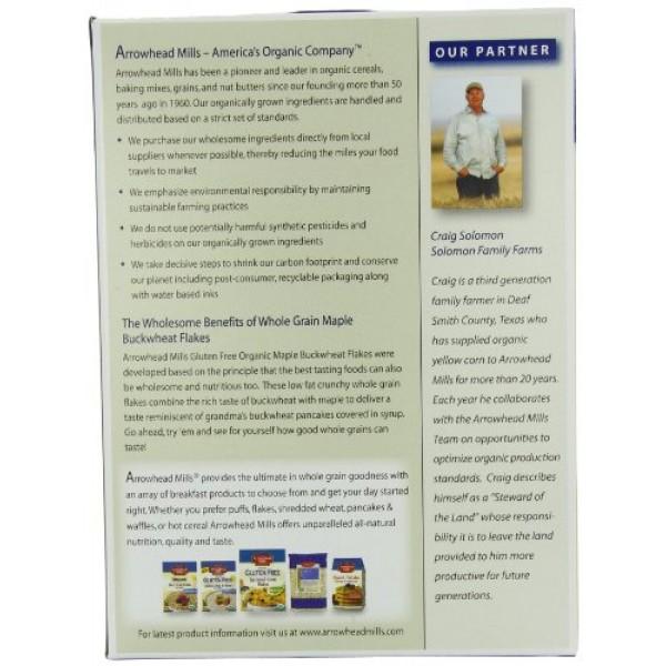 Arrowhead Mills Organic Gluten-Free Cereal, Maple Buckwheat Flak...