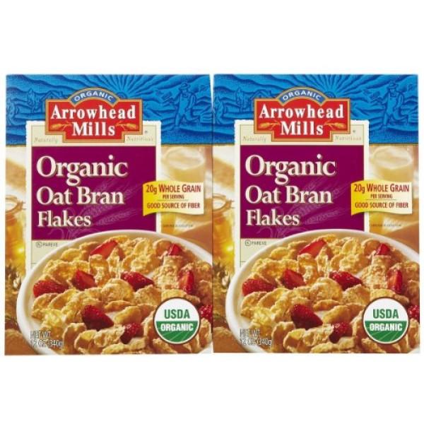Arrowhead Mills Organic Oat Bran Flakes - 12 oz - 2 pk