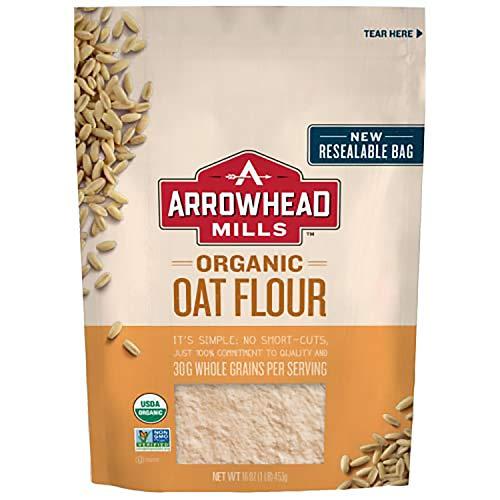 Arrowhead Mills Organic Oat Flour, 16 Ounce Bag Pack of 6