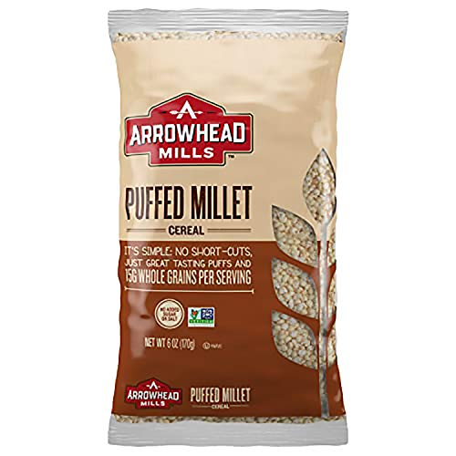 Arrowhead Mills Puffed Millet Cereal, 6 Ounce Bag Pack of 12