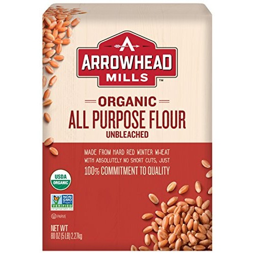 ARROWHEAD MILLS White Unbleached Organic Flour, 5 Pound