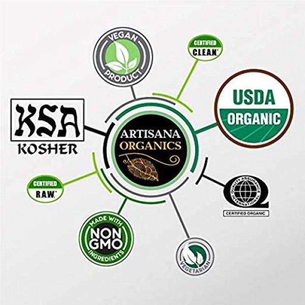 Artisana Organics Cashew Cacao Spread, 9.5oz Recyclable Plastic Jar