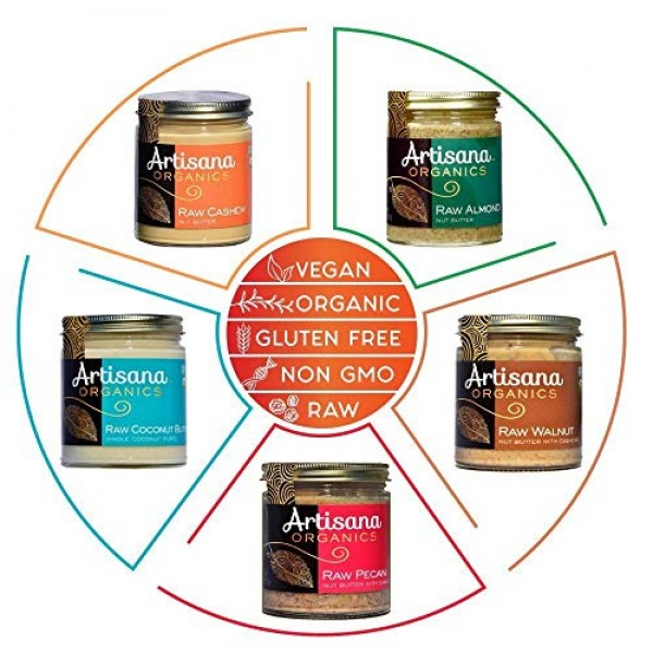Artisana Organics Non GMO Raw Coconut Butter 2 Pack 14 oz