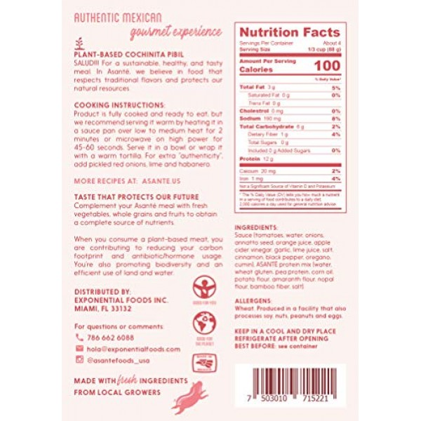 Asanté Plant-Based Meat - Vegan Cochinita Pibil - Beyond Delicio...