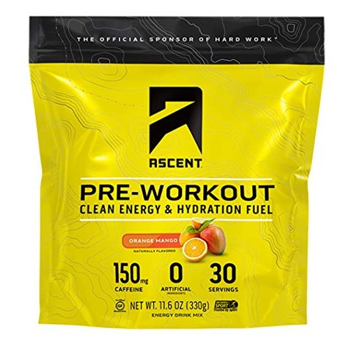 Ascent Pre Workout - Orange Mango - 30 Servings