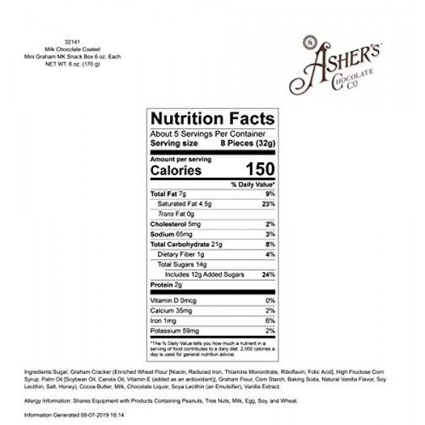 Ashers Chocolate, Gourmet Chocolate Covered Mini Graham Cracker...