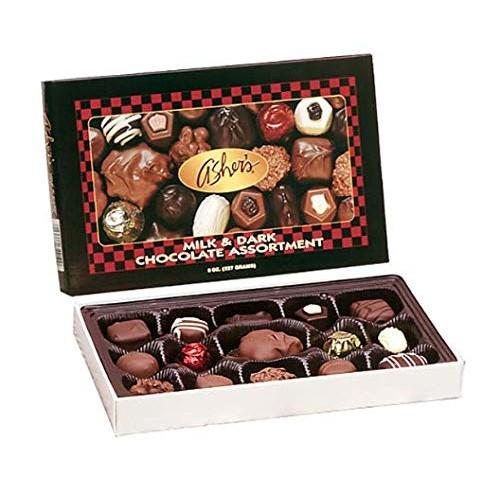 Ashers Chocolate, Milk and Dark Chocolate Assortment, Small Bat...
