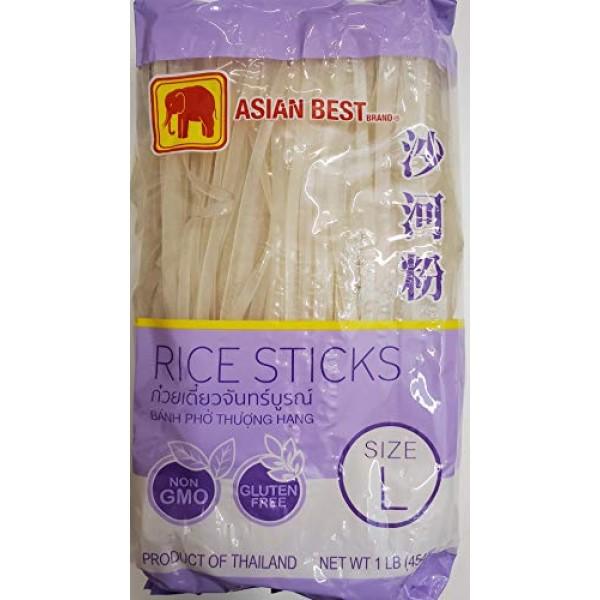 Asian Best Premium Rice Stick Noodle Large, 16oz 3 Packs
