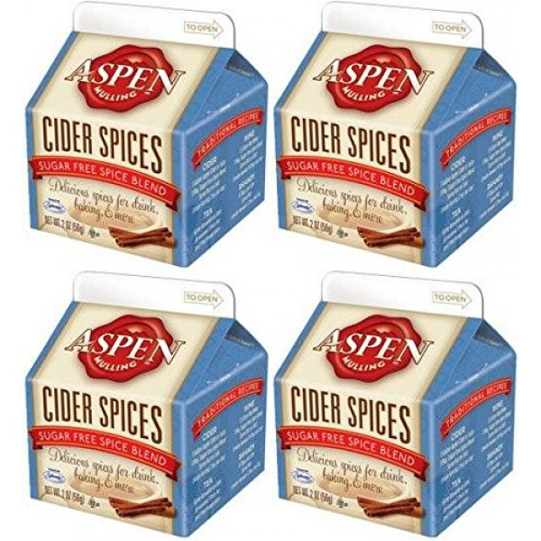 Aspen Mulling Cider Spice 4 Pack Qty of 4, 2 Ounce Cartons Suga...