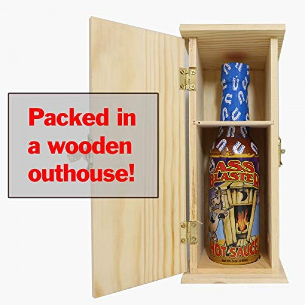 ASS BLASTER Premium Gourmet Hot Sauce Bottle with Outhouse Box -...