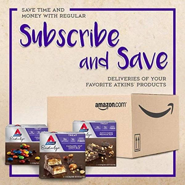 Atkins Endulge Treat, Chocolate Coconut Bar, Keto Friendly, 5 Count