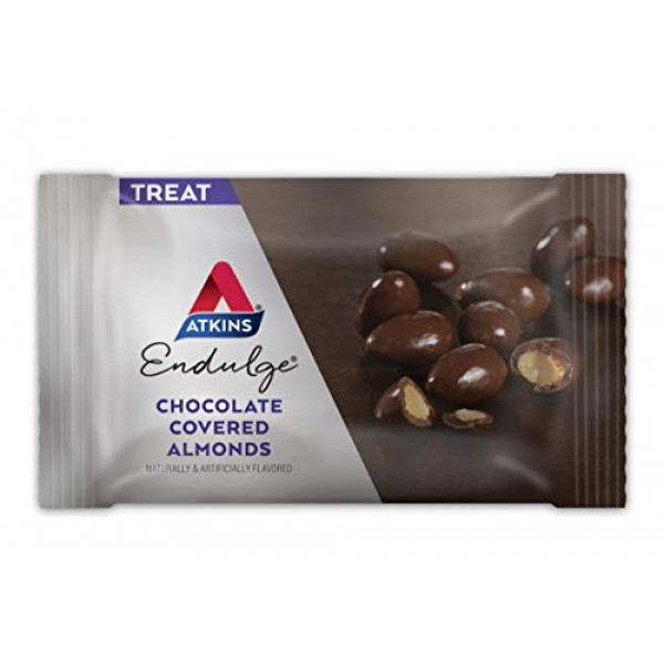 Atkins Endulge Treat Chocolate Covered Almonds. Rich & Crunchy. ...