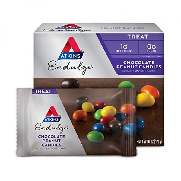 Atkins Endulge Treat, Chocolate Peanut Candies, Keto Friendly, 5...