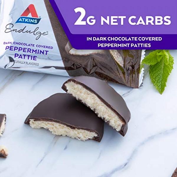Atkins Endulge Treat Dark Chocolate Covered Peppermint Patties, ...