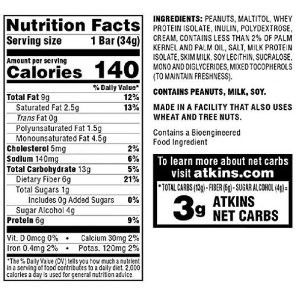 Atkins Endulge Treat, Peanut Caramel Cluster Bar, Keto Friendly,...