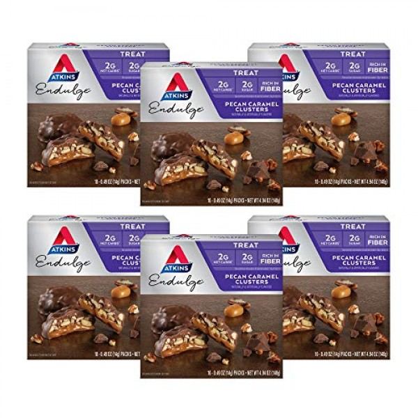 Atkins Endulge Treat, Pecan Caramel Clusters, Keto Friendly, 10 ...