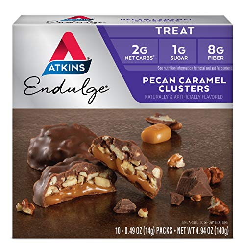 Atkins Pecan Caramel Clusters. Rich and Decadent Treats with Cho...