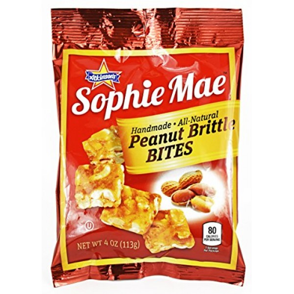 Set of 3 Sophie Mae Peanut Brittle Bites Candy - 4 Ounce per Pac...