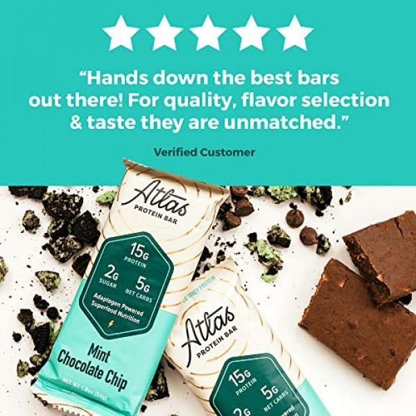 Atlas Protein Bar - Keto Friendly, Mint Chocolate Chip 10-...