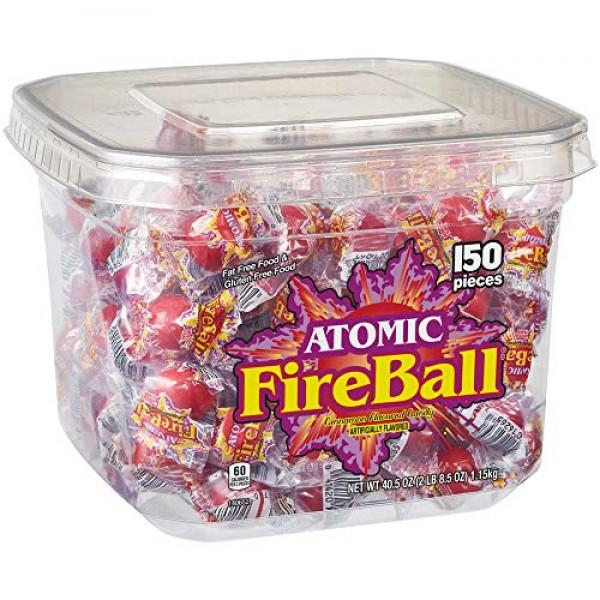 Atomic Fireballs Candy 2 Pound Tub
