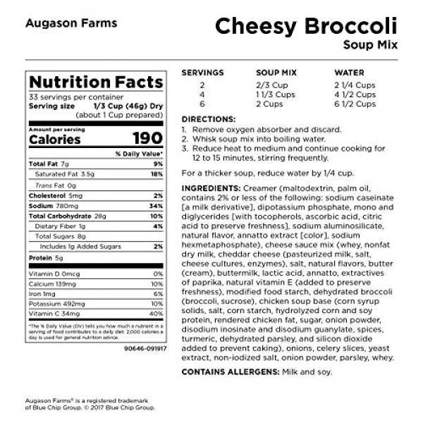 Augason Farms Cheesy Broccoli Soup Mix 3 lbs 5 oz No. 10 Can