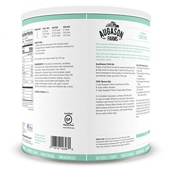 Augason Farms Southwest Chili Mix Net wt. 3 lbs 10 oz 1.65 kg