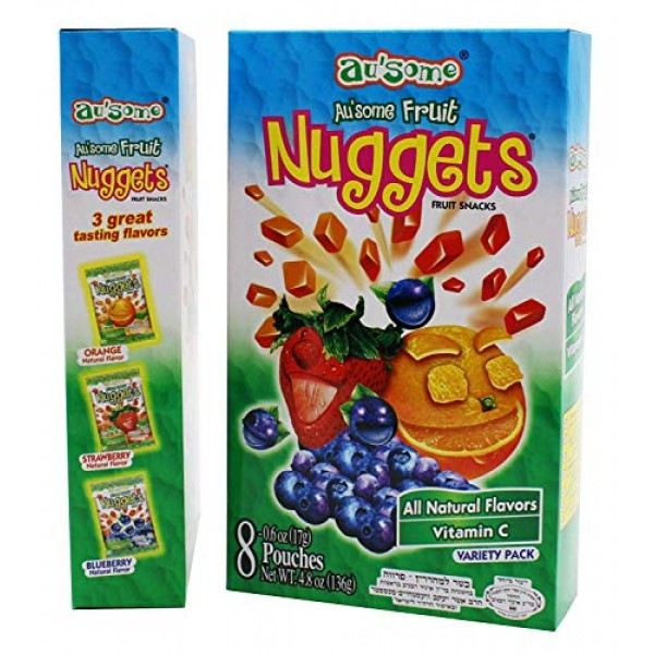 Fruit Juice Nuggets Gift Box Snack - 3 Boxes of 8 pack - Kosher ...