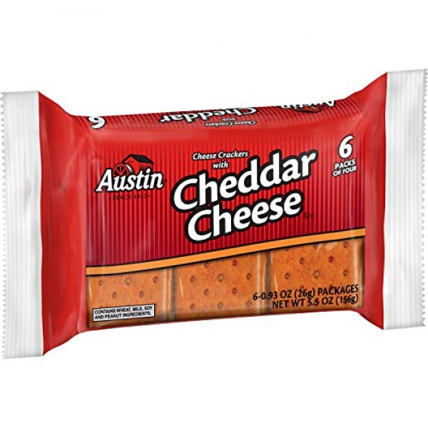 Austin, Sandwich Crackers, Cheese With Cheddar Cheese, 5.5oz Pac...