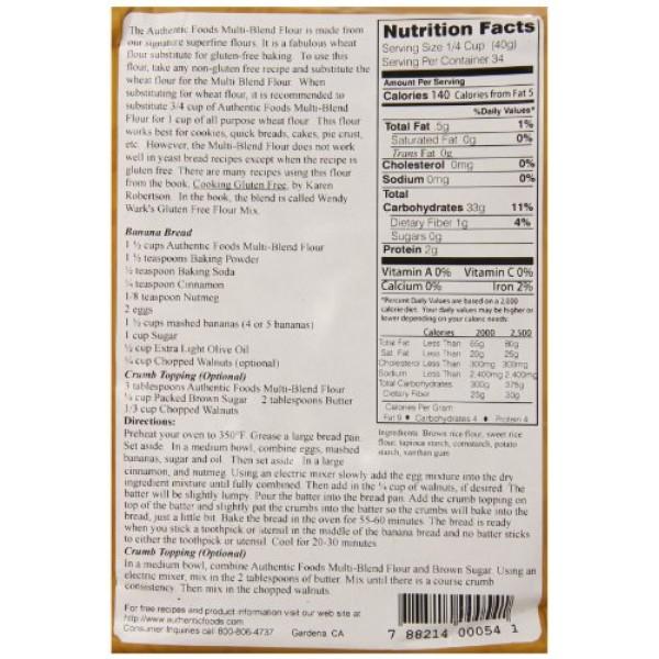 Authentic Foods Multi Blend Flour - 3 Pounds