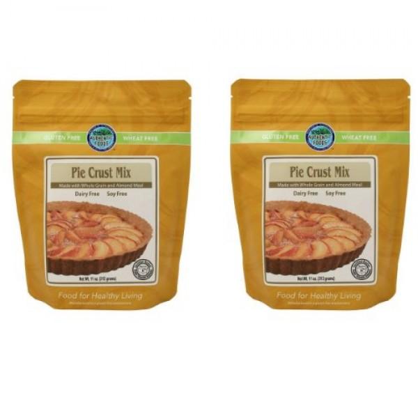 Authentic Foods Pie Crust Mix- 2 Pack