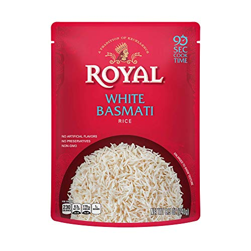 Authentic Royal Ready To Heat Rice, 4-Pack, White Basmati