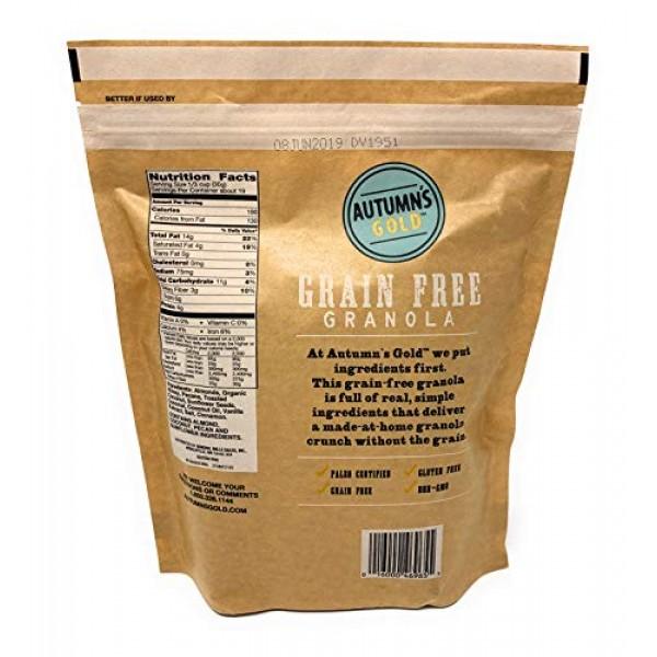 Autumns Gold Grain Free Toasted Coconut Almond Granola 1lb 4oz