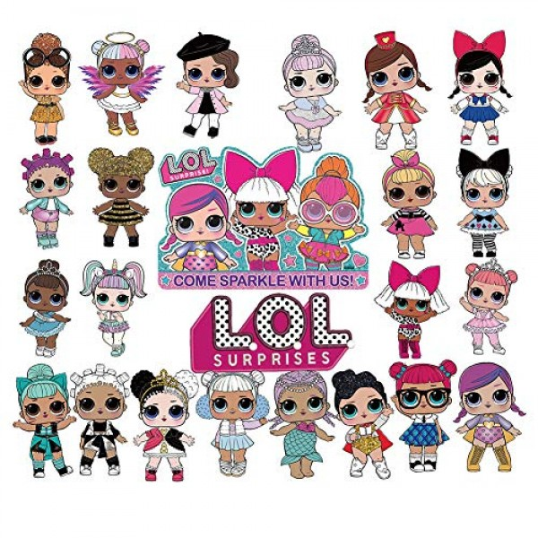 LOL 24pcs Cupcake Toppers Girls Topper Set, Decorations for 1st ...