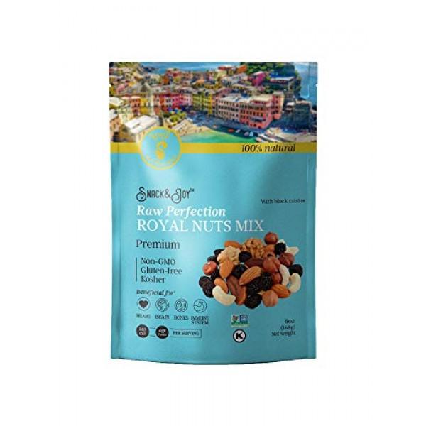 AZNUT Mixed Royal Nuts Raw Perfection Non Gmo and Kosher Certifi...