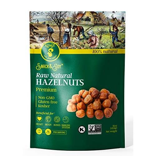 AZNUT Raw Hazelnuts Natural Non-GMO Certified,Kosher Certified, ...